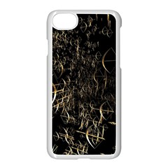 Golden Bows And Arrows On Black Apple Iphone 7 Seamless Case (white) by Simbadda