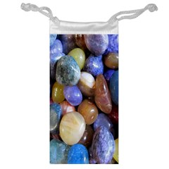 Rock Tumbler Used To Polish A Collection Of Small Colorful Pebbles Jewelry Bag by Simbadda