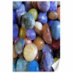 Rock Tumbler Used To Polish A Collection Of Small Colorful Pebbles Canvas 24  X 36  by Simbadda