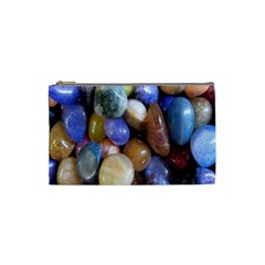 Rock Tumbler Used To Polish A Collection Of Small Colorful Pebbles Cosmetic Bag (small)  by Simbadda