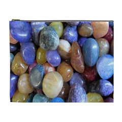 Rock Tumbler Used To Polish A Collection Of Small Colorful Pebbles Cosmetic Bag (xl) by Simbadda