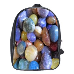 Rock Tumbler Used To Polish A Collection Of Small Colorful Pebbles School Bags(large)  by Simbadda