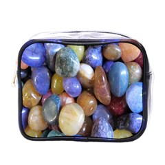 Rock Tumbler Used To Polish A Collection Of Small Colorful Pebbles Mini Toiletries Bags by Simbadda