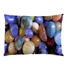 Rock Tumbler Used To Polish A Collection Of Small Colorful Pebbles Pillow Case (two Sides) by Simbadda
