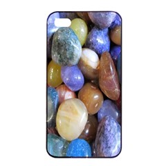 Rock Tumbler Used To Polish A Collection Of Small Colorful Pebbles Apple Iphone 4/4s Seamless Case (black) by Simbadda
