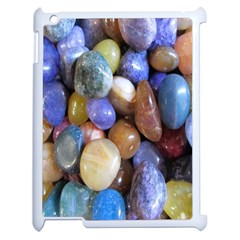 Rock Tumbler Used To Polish A Collection Of Small Colorful Pebbles Apple Ipad 2 Case (white) by Simbadda