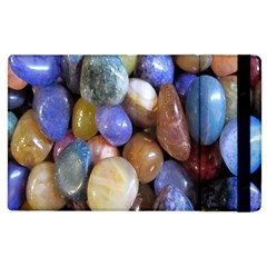 Rock Tumbler Used To Polish A Collection Of Small Colorful Pebbles Apple Ipad 2 Flip Case by Simbadda