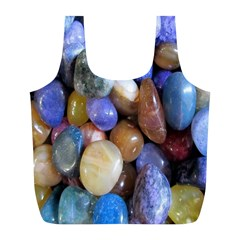 Rock Tumbler Used To Polish A Collection Of Small Colorful Pebbles Full Print Recycle Bags (l)  by Simbadda