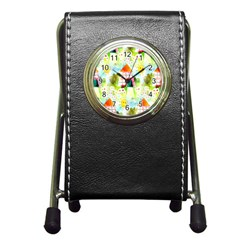 Summer House And Garden A Completely Seamless Tile Able Background Pen Holder Desk Clocks by Simbadda