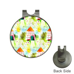 Summer House And Garden A Completely Seamless Tile Able Background Hat Clips With Golf Markers by Simbadda