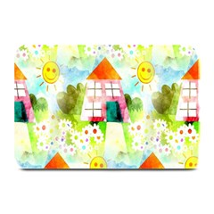 Summer House And Garden A Completely Seamless Tile Able Background Plate Mats by Simbadda