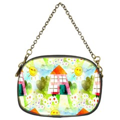 Summer House And Garden A Completely Seamless Tile Able Background Chain Purses (two Sides)  by Simbadda