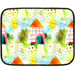 Summer House And Garden A Completely Seamless Tile Able Background Double Sided Fleece Blanket (mini)  by Simbadda