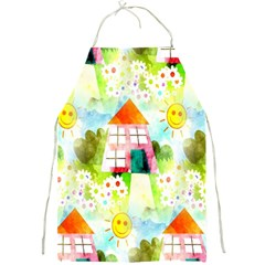 Summer House And Garden A Completely Seamless Tile Able Background Full Print Aprons by Simbadda