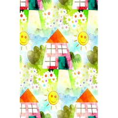Summer House And Garden A Completely Seamless Tile Able Background 5 5  X 8 5  Notebooks by Simbadda