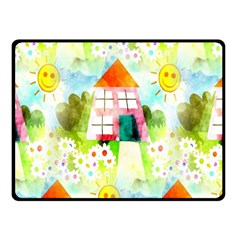 Summer House And Garden A Completely Seamless Tile Able Background Fleece Blanket (small) by Simbadda