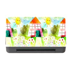Summer House And Garden A Completely Seamless Tile Able Background Memory Card Reader With Cf by Simbadda