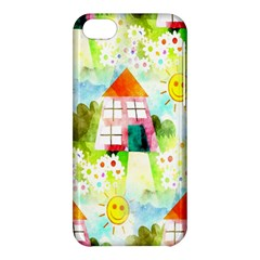 Summer House And Garden A Completely Seamless Tile Able Background Apple Iphone 5c Hardshell Case by Simbadda