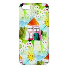 Summer House And Garden A Completely Seamless Tile Able Background Iphone 5s/ Se Premium Hardshell Case by Simbadda