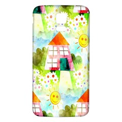 Summer House And Garden A Completely Seamless Tile Able Background Samsung Galaxy S5 Back Case (white) by Simbadda