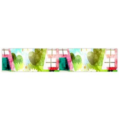 Summer House And Garden A Completely Seamless Tile Able Background Flano Scarf (Small)