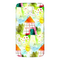 Summer House And Garden A Completely Seamless Tile Able Background Samsung Galaxy Mega I9200 Hardshell Back Case
