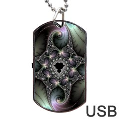 Magic Swirl Dog Tag Usb Flash (two Sides) by Simbadda