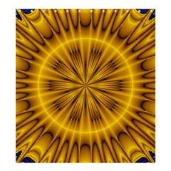 Fractal Yellow Kaleidoscope Lyapunov Shower Curtain 66  X 72  (large)  by Simbadda