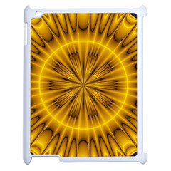 Fractal Yellow Kaleidoscope Lyapunov Apple Ipad 2 Case (white) by Simbadda