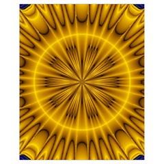 Fractal Yellow Kaleidoscope Lyapunov Drawstring Bag (small) by Simbadda