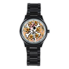 Banner Header Tapete Stainless Steel Round Watch by Simbadda