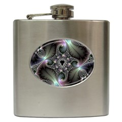 Precious Spiral Wallpaper Hip Flask (6 Oz) by Simbadda