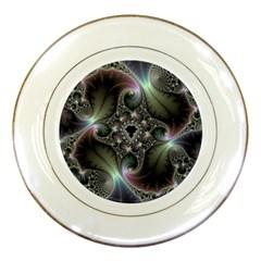 Precious Spiral Wallpaper Porcelain Plates by Simbadda