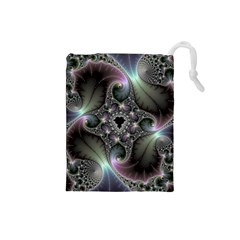 Precious Spiral Wallpaper Drawstring Pouches (small)  by Simbadda