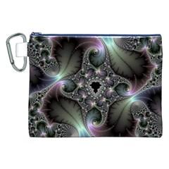 Precious Spiral Wallpaper Canvas Cosmetic Bag (xxl) by Simbadda