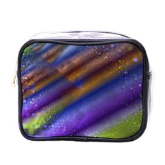 Fractal Color Stripes Mini Toiletries Bags by Simbadda