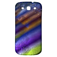 Fractal Color Stripes Samsung Galaxy S3 S Iii Classic Hardshell Back Case by Simbadda