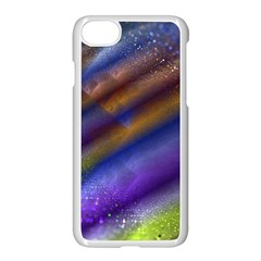 Fractal Color Stripes Apple Iphone 7 Seamless Case (white) by Simbadda