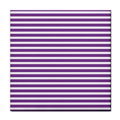 Horizontal Stripes Purple Tile Coasters