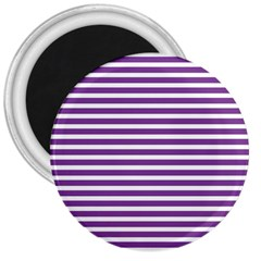 Horizontal Stripes Purple 3  Magnets
