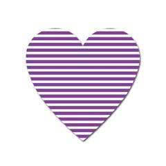 Horizontal Stripes Purple Heart Magnet