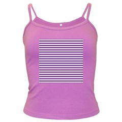 Horizontal Stripes Purple Dark Spaghetti Tank