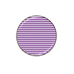 Horizontal Stripes Purple Hat Clip Ball Marker (4 Pack)