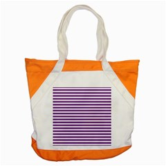 Horizontal Stripes Purple Accent Tote Bag