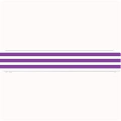 Horizontal Stripes Purple Small Bar Mats by Mariart