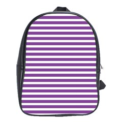 Horizontal Stripes Purple School Bags(large)  by Mariart
