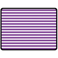Horizontal Stripes Purple Fleece Blanket (large)  by Mariart