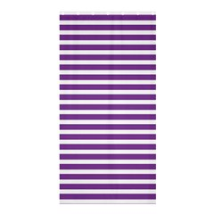 Horizontal Stripes Purple Shower Curtain 36  X 72  (stall)  by Mariart