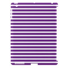 Horizontal Stripes Purple Apple Ipad 3/4 Hardshell Case (compatible With Smart Cover) by Mariart