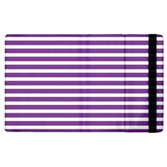 Horizontal Stripes Purple Apple Ipad 3/4 Flip Case